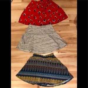 Three skirts Topshop, American eagle, la hearts